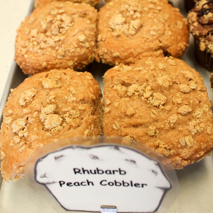 Rhubarb Peach Cobbler